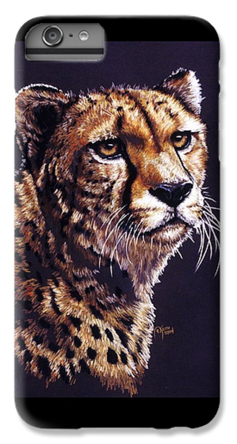Cheetah IPhone 6 Plus Case featuring the drawing Movin On by Barbara Keith