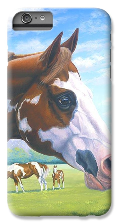Paint Horse IPhone 6 Plus Case featuring the painting Mr. Norfleets Legacy by Howard Dubois