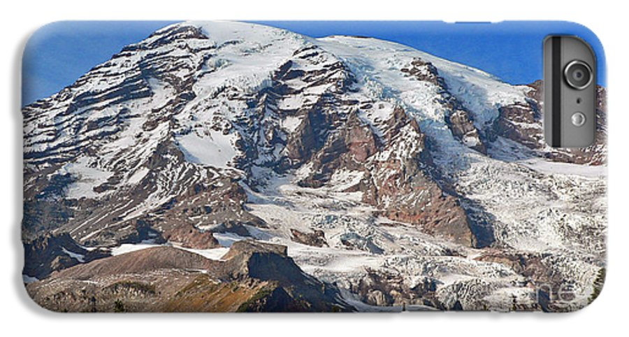 Mountains IPhone 6 Plus Case featuring the photograph Mt. Rainier In The Fall by Larry Keahey