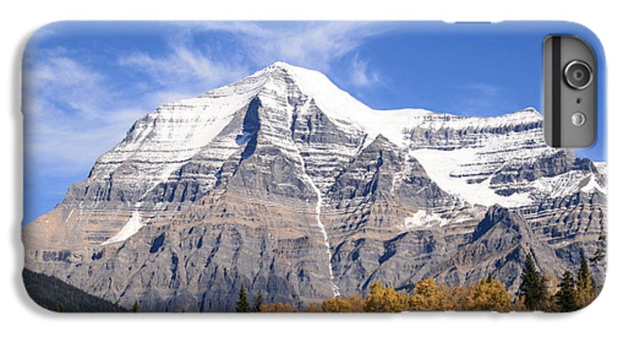 Rocky Mountain IPhone 6 Plus Case featuring the photograph Mt. Robson- Canada's Tallest Peak by Tiffany Vest