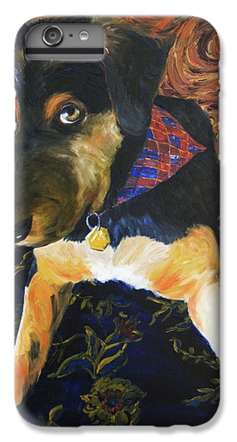 Dog IPhone 6 Plus Case featuring the painting Murphy I by Nik Helbig