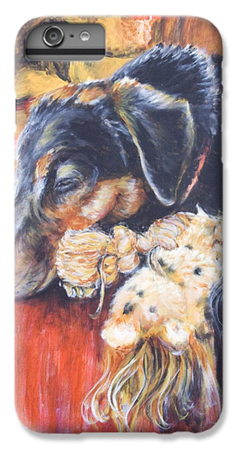 Dog IPhone 6 Plus Case featuring the painting Murphy Viii by Nik Helbig
