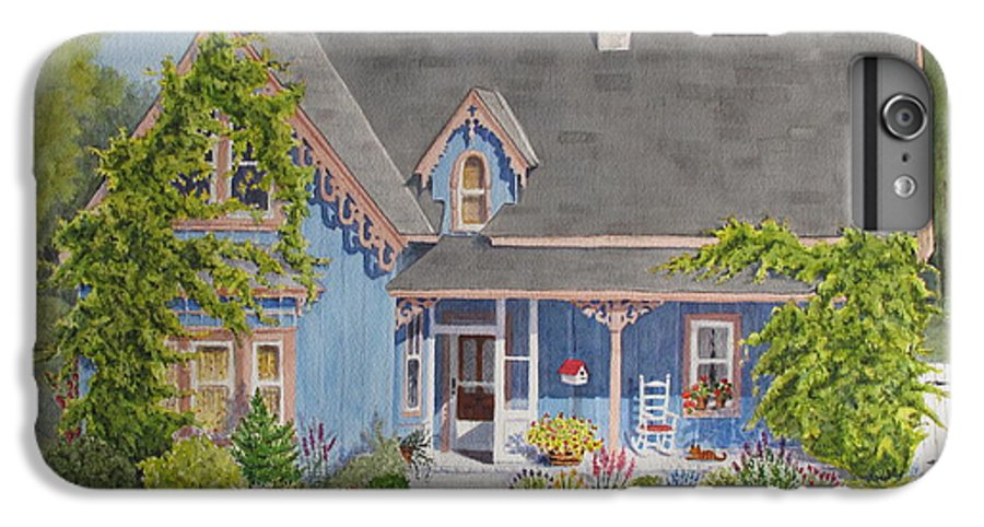 House IPhone 6 Plus Case featuring the painting My Blue Heaven by Mary Ellen Mueller Legault