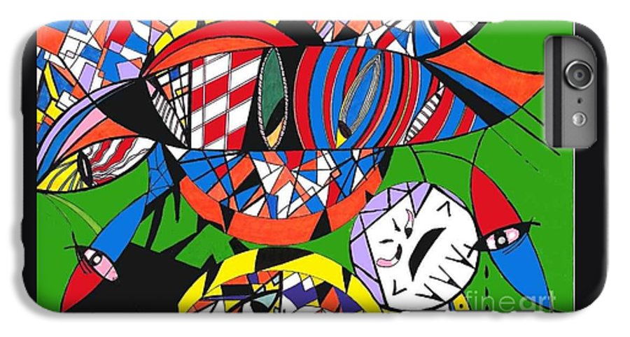 Psychedelic IPhone 6 Plus Case featuring the painting My Eyes by Safak Tulga