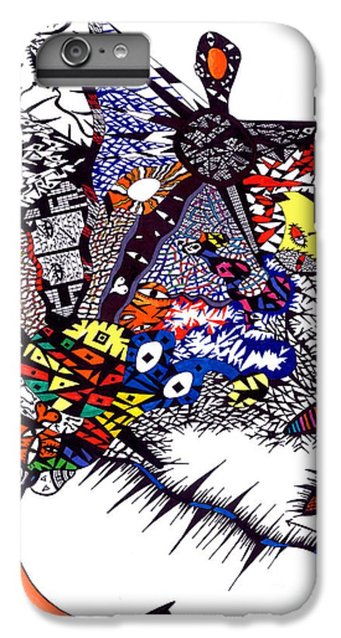 Feelings IPhone 6 Plus Case featuring the painting My Feelings by Safak Tulga