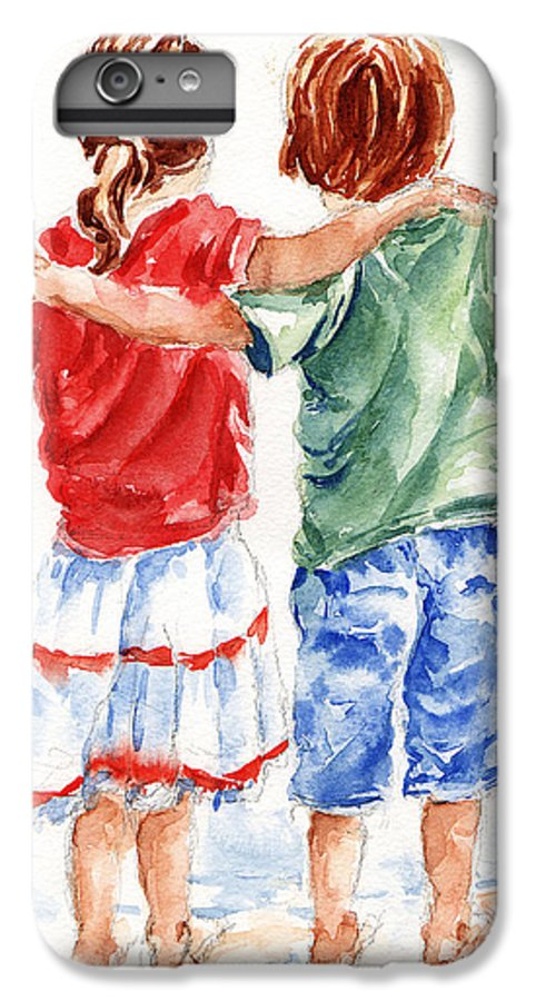 Watercolour IPhone 6 Plus Case featuring the painting My Friend by Stephie Butler