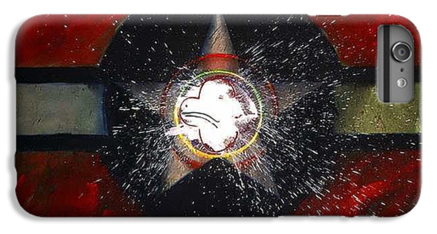 Usaaf Insignia IPhone 6 Plus Case featuring the painting My Indian Red by Charles Stuart