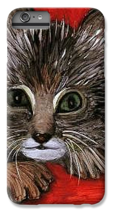 Very Curious And Beautiful Kittie Cat IPhone 6 Plus Case featuring the painting My Kittie Cat by Pilar Martinez-Byrne