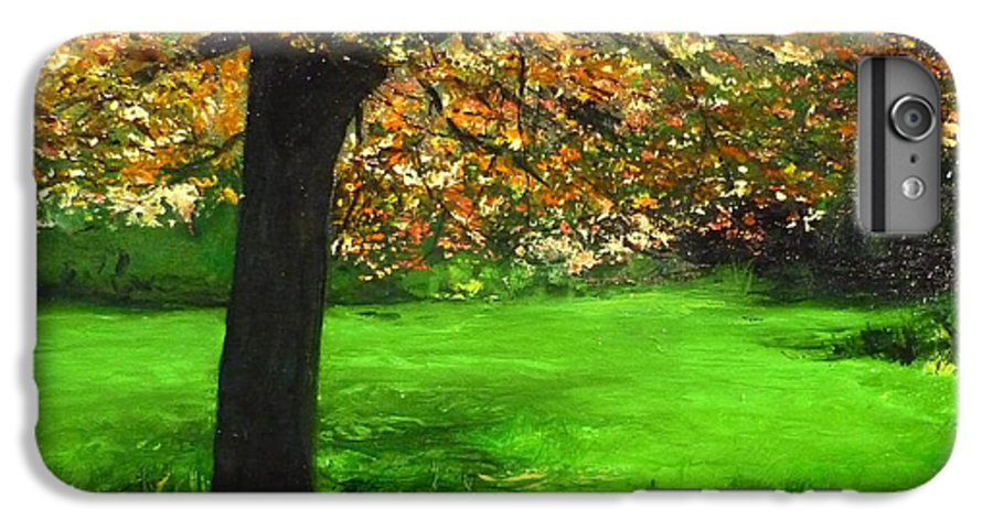 Spiritualism IPhone 6 Plus Case featuring the painting My Love Of Trees I by Lizzy Forrester