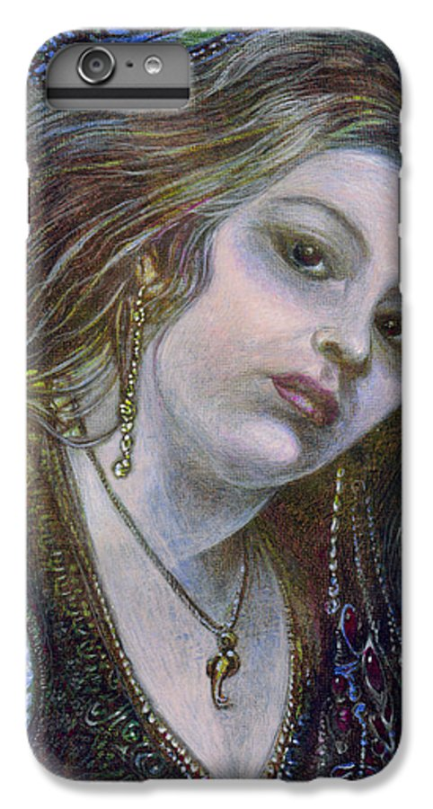 Fantasy IPhone 6 Plus Case featuring the painting My Mermaid Christan by Otto Rapp