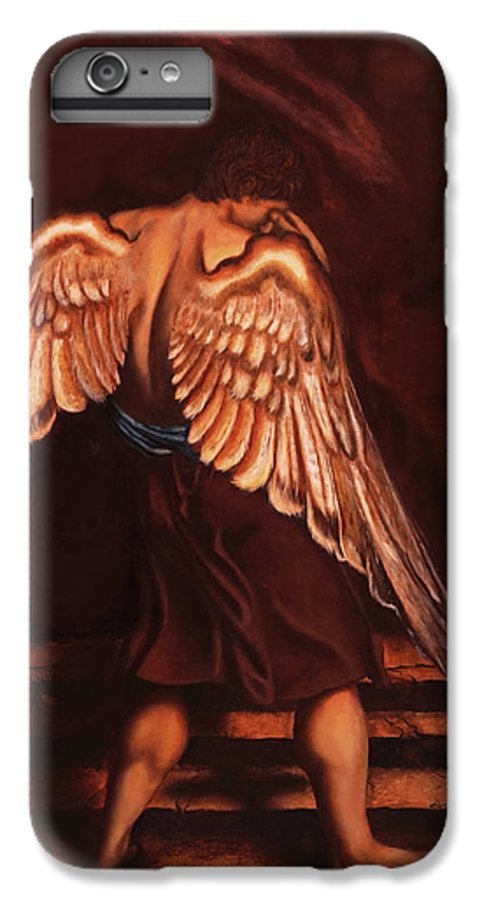 Giorgio IPhone 6 Plus Case featuring the painting My Soul Seeks For What My Heart Lost by Giorgio Tuscani