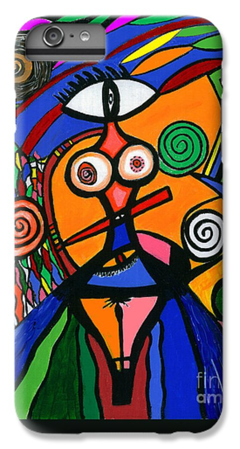 Feelings IPhone 6 Plus Case featuring the painting My Woman by Safak Tulga