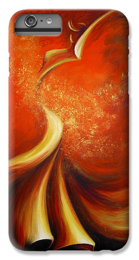 Figure Study IPhone 6 Plus Case featuring the painting Mystery Dance by Dina Dargo
