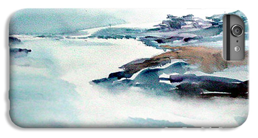 River IPhone 6 Plus Case featuring the painting Mystic River by Anil Nene