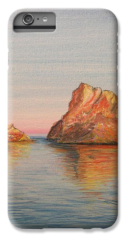 Island IPhone 6 Plus Case featuring the painting Mystical Island Es Vedra by Lizzy Forrester