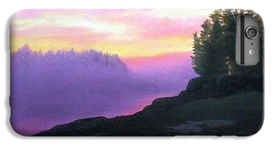 Sunset IPhone 6 Plus Case featuring the painting Mystical Sunset by Sharon E Allen