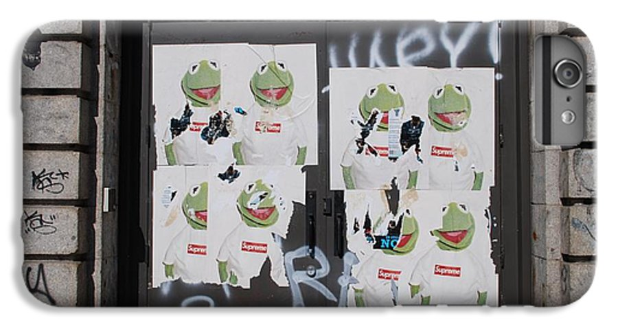 Kermit The Frog IPhone 6 Plus Case featuring the photograph N Y C Kermit by Rob Hans
