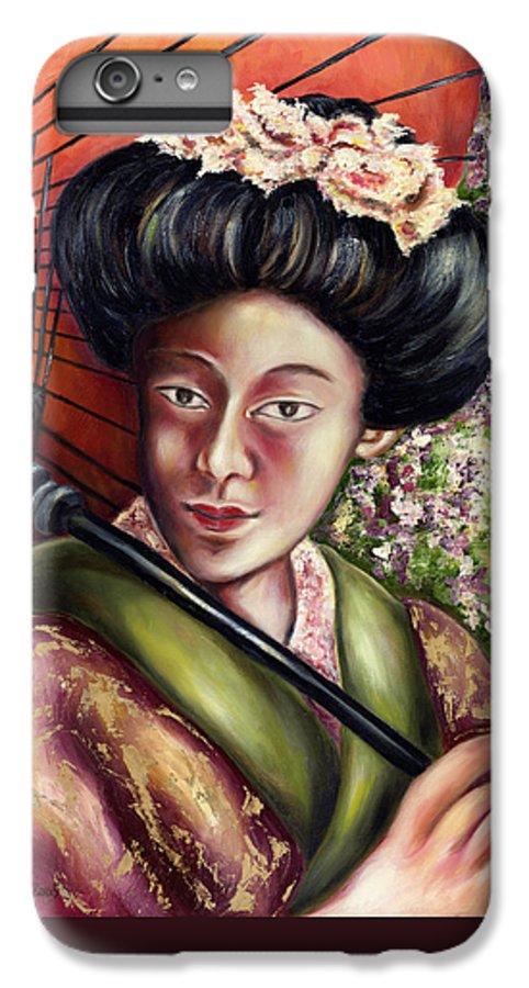 Japanese IPhone 6 Plus Case featuring the painting Nadeshiko by Hiroko Sakai
