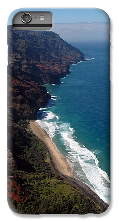 Hawaii IPhone 6 Plus Case featuring the photograph Napali Cliffs by Kathy Schumann