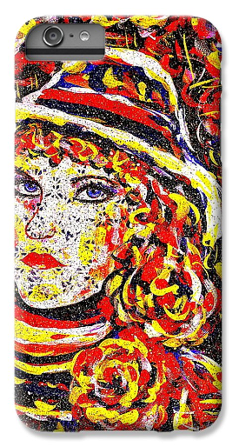 Woman IPhone 6 Plus Case featuring the painting Nat With The Hat by Natalie Holland