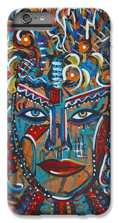 Abstract IPhone 6 Plus Case featuring the painting Nataliana by Natalie Holland