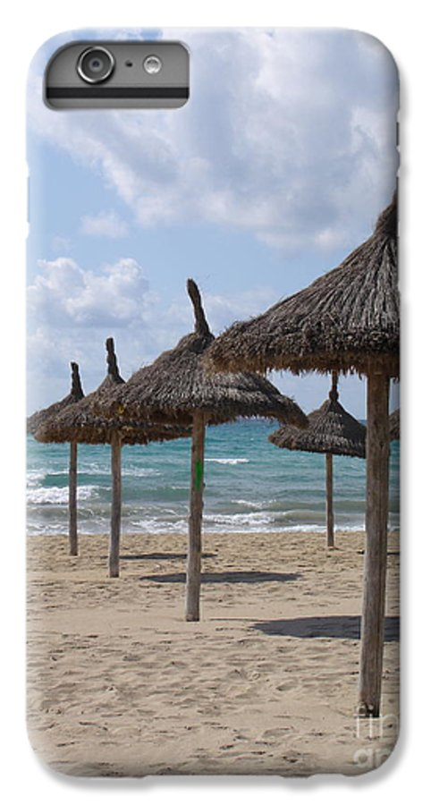Beach IPhone 6 Plus Case featuring the photograph Natural Umbrella by Chad Natti