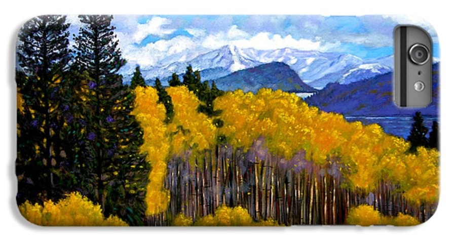 Fall IPhone 6 Plus Case featuring the painting Natures Patterns - Rocky Mountains by John Lautermilch