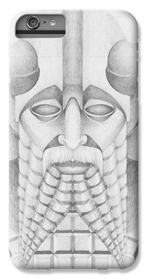 Babylonian IPhone 6 Plus Case featuring the drawing Nebuchadezzar by Curtiss Shaffer