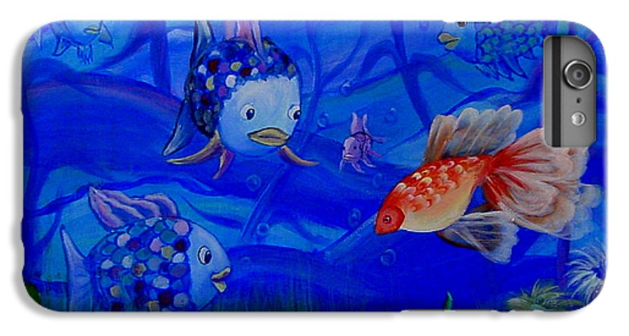 Fish IPhone 6 Plus Case featuring the painting New Kid In Town by Quwatha Valentine