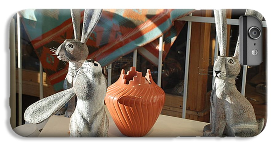 Rabbits IPhone 6 Plus Case featuring the photograph New Mexico Rabbits by Rob Hans