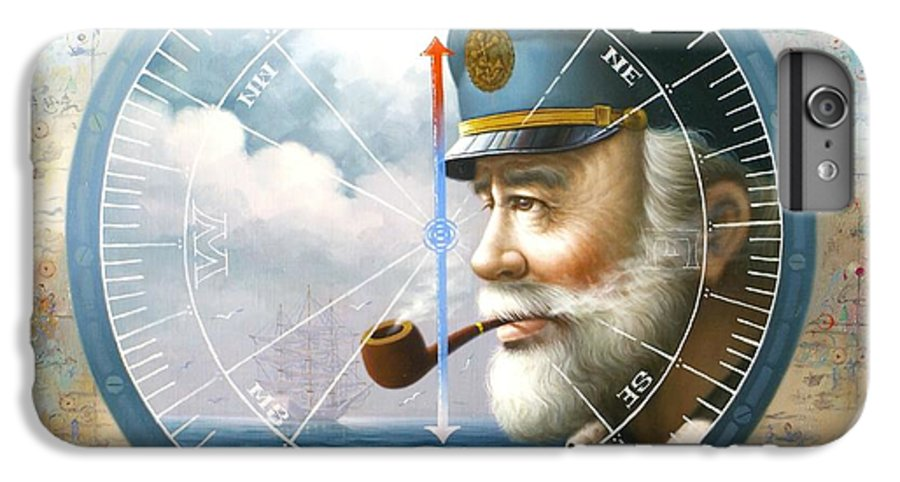 Sea Captain IPhone 6 Plus Case featuring the painting News Map Captain Or Sea Captain by Yoo Choong Yeul