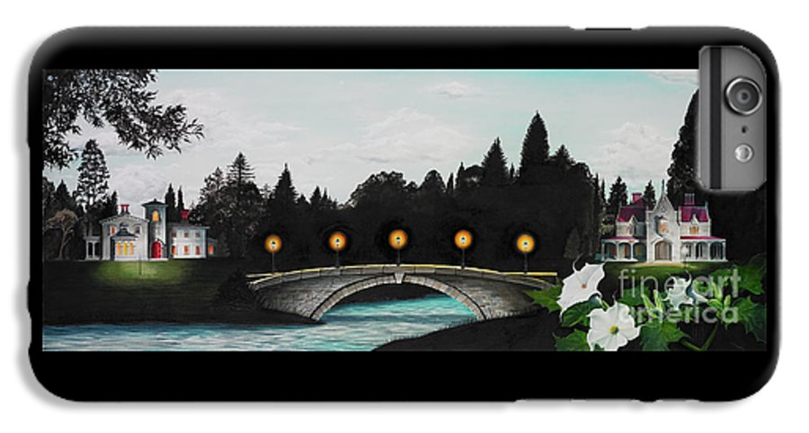 Architecture IPhone 6 Plus Case featuring the painting Night Bridge by Melissa A Benson