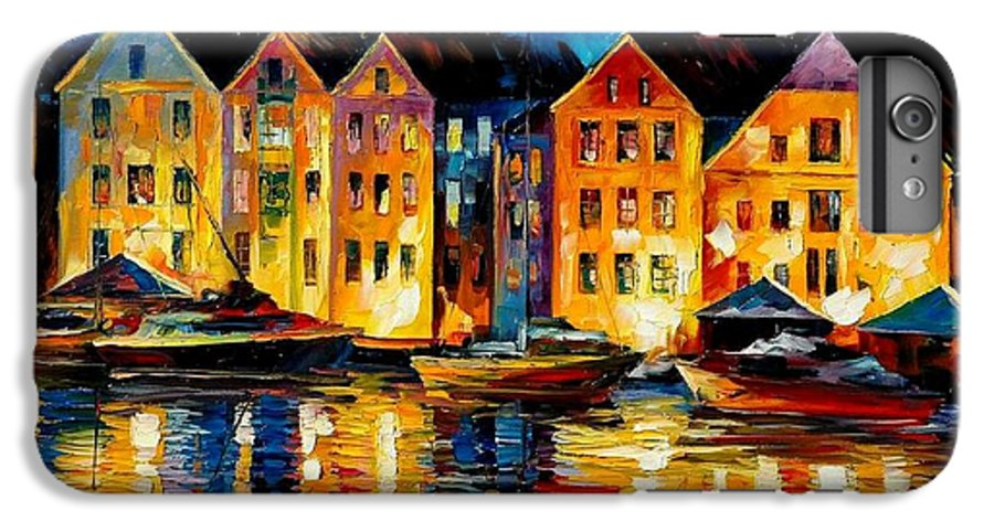 City IPhone 6 Plus Case featuring the painting Night Resting Original Oil Painting by Leonid Afremov