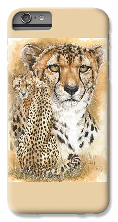 Cheetah IPhone 6 Plus Case featuring the mixed media Nimble by Barbara Keith