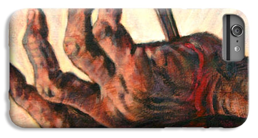 Christ IPhone 6 Plus Case featuring the painting No Greater Love by John Lautermilch