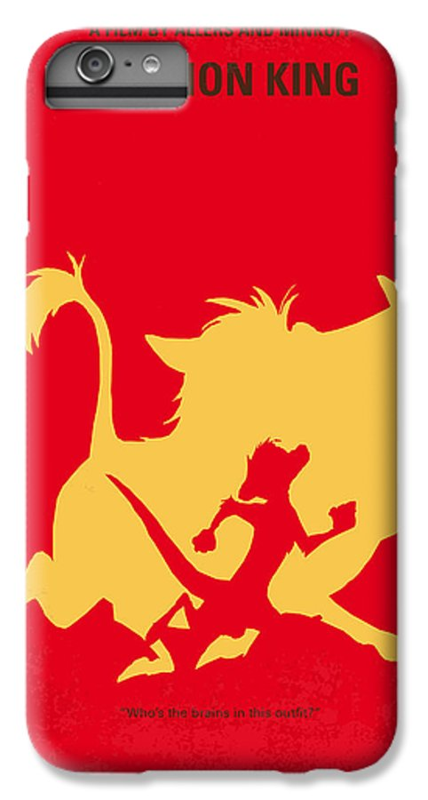 Lion IPhone 6 Plus Case featuring the digital art No512 My The Lion King Minimal Movie Poster by Chungkong Art