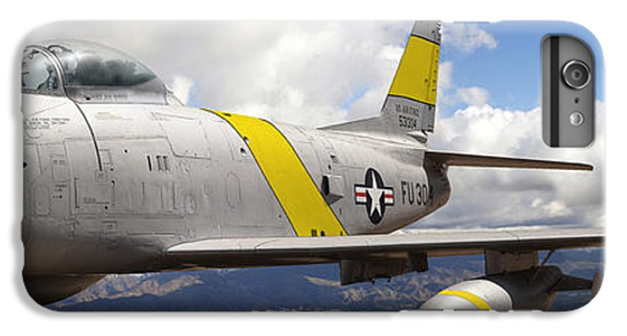 F-86 Sabre IPhone 6 Plus Case featuring the photograph North American F-86 Sabre by Larry McManus