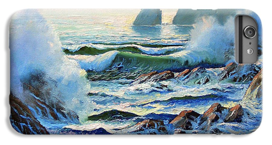 Seascape IPhone 6 Plus Case featuring the painting North Coast Surf by Frank Wilson