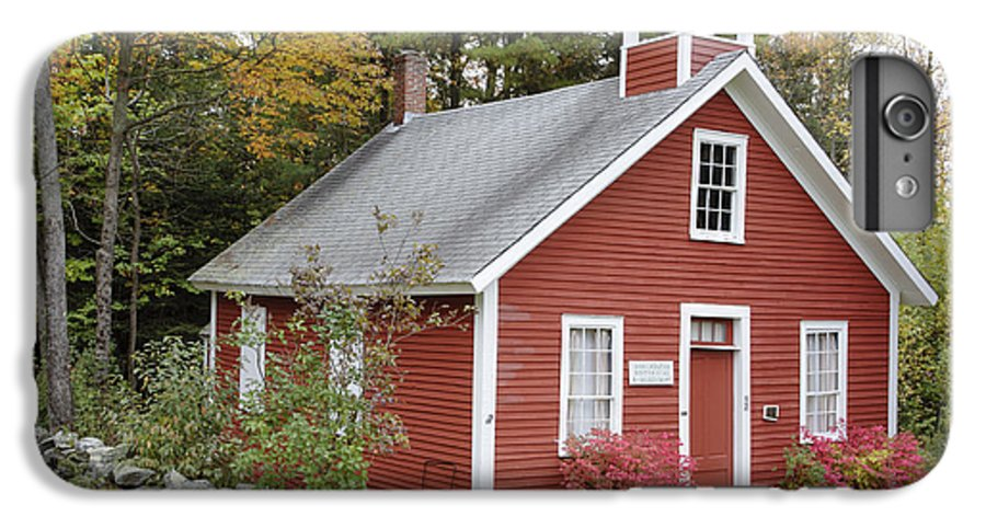 New Hampshire IPhone 6 Plus Case featuring the photograph North District School House - Dorchester New Hampshire by Erin Paul Donovan
