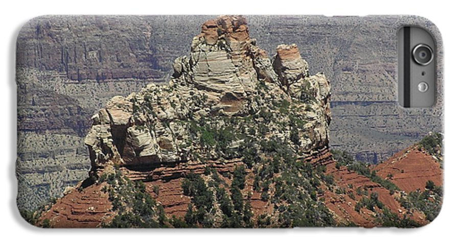 Rock IPhone 6 Plus Case featuring the photograph North Rim Rock by Louise Magno