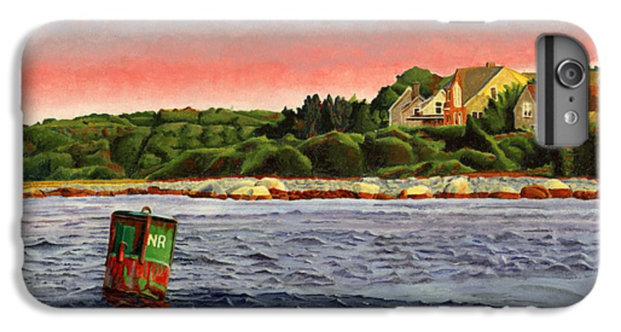 River IPhone 6 Plus Case featuring the painting North River At Sunset by Dominic White