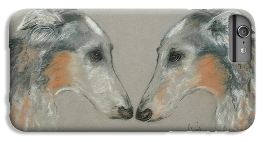 Dog IPhone 6 Plus Case featuring the drawing Nose To Nose by Cori Solomon