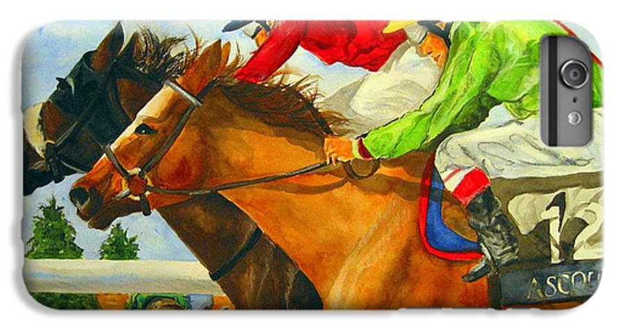 Horse IPhone 6 Plus Case featuring the painting Nose To Nose by Jean Blackmer