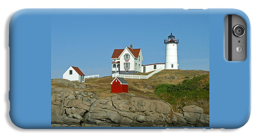 Nubble IPhone 6 Plus Case featuring the photograph Nubble Light by Margie Wildblood