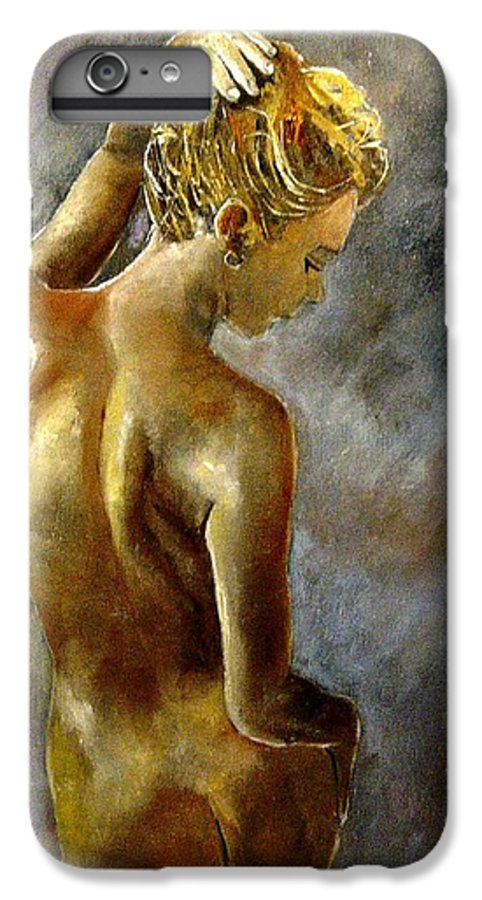 Girl Nude IPhone 6 Plus Case featuring the painting Nude 27 by Pol Ledent