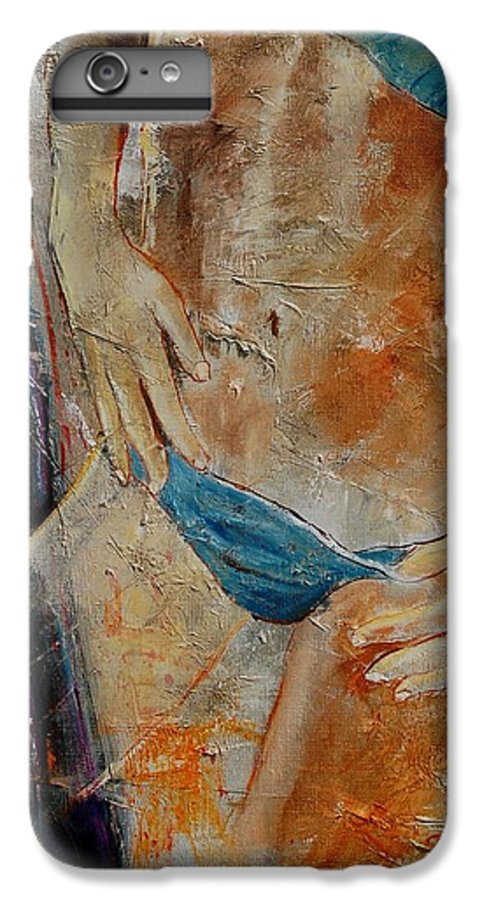 Girl Nude IPhone 6 Plus Case featuring the painting Nude 450608 by Pol Ledent
