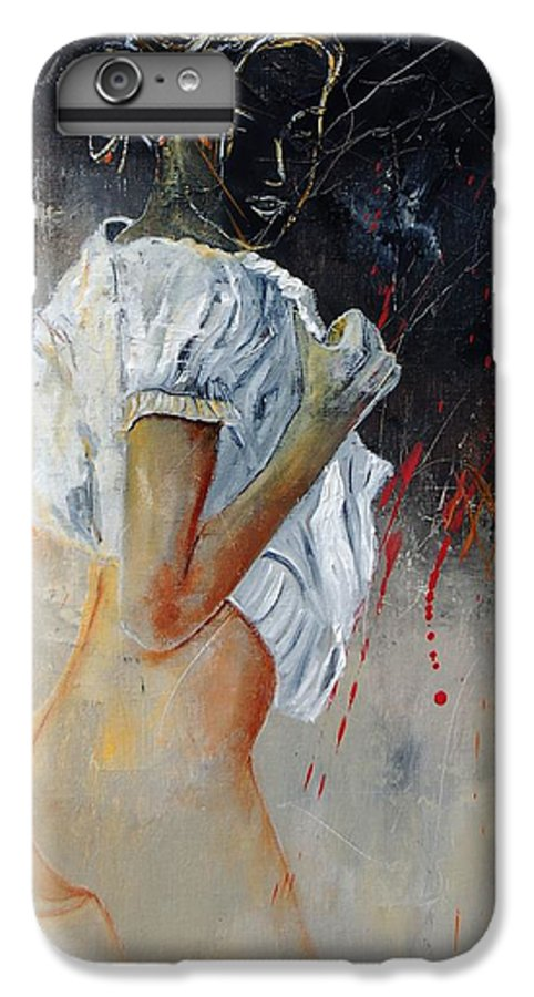 Nude IPhone 6 Plus Case featuring the painting Nude 560508 by Pol Ledent
