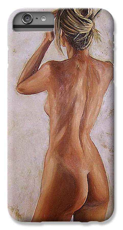Nude IPhone 6 Plus Case featuring the painting Nude by Natalia Tejera