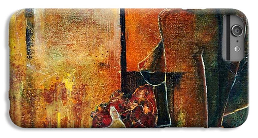 Woman Girl Fashion Nude IPhone 6 Plus Case featuring the painting Nude by Pol Ledent