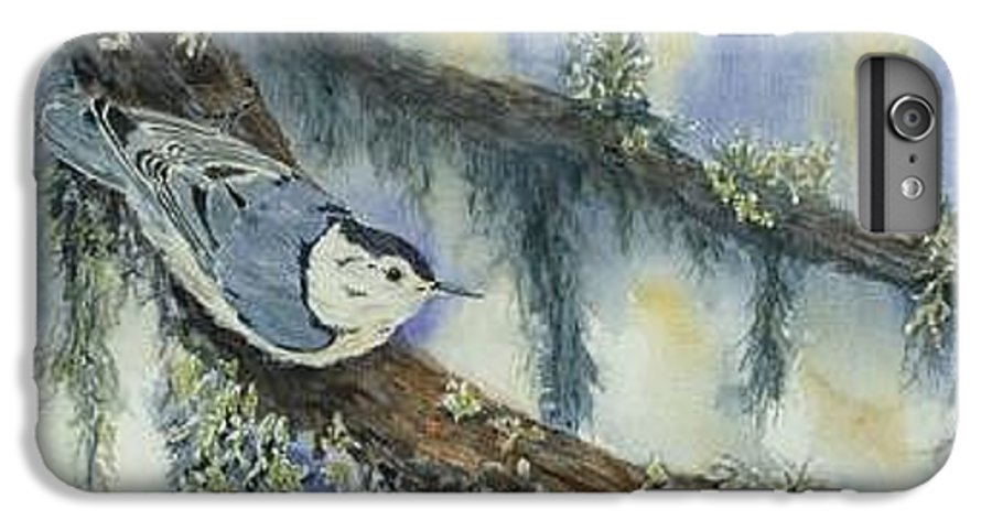 Nuthatch IPhone 6 Plus Case featuring the painting Nuthatch by Dolores Fegan